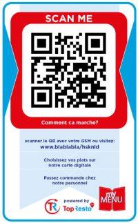 Abwaschbare Sticker Digitale Speisekarte QR Code Luxemburg Deutschland