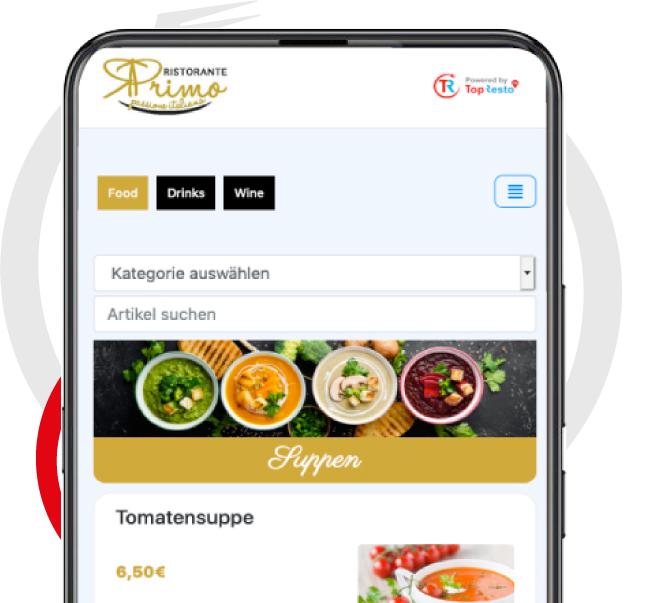 Digitale Speisekarte QR Code Covid19 Corona Restaurants Lösung