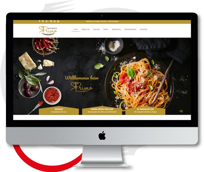 Günstige professionelle Website inklusive Wartung und Änderungen Restaurant Gastronomie Website